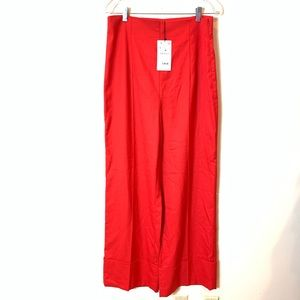 Zara: wide leg red trousers size large
